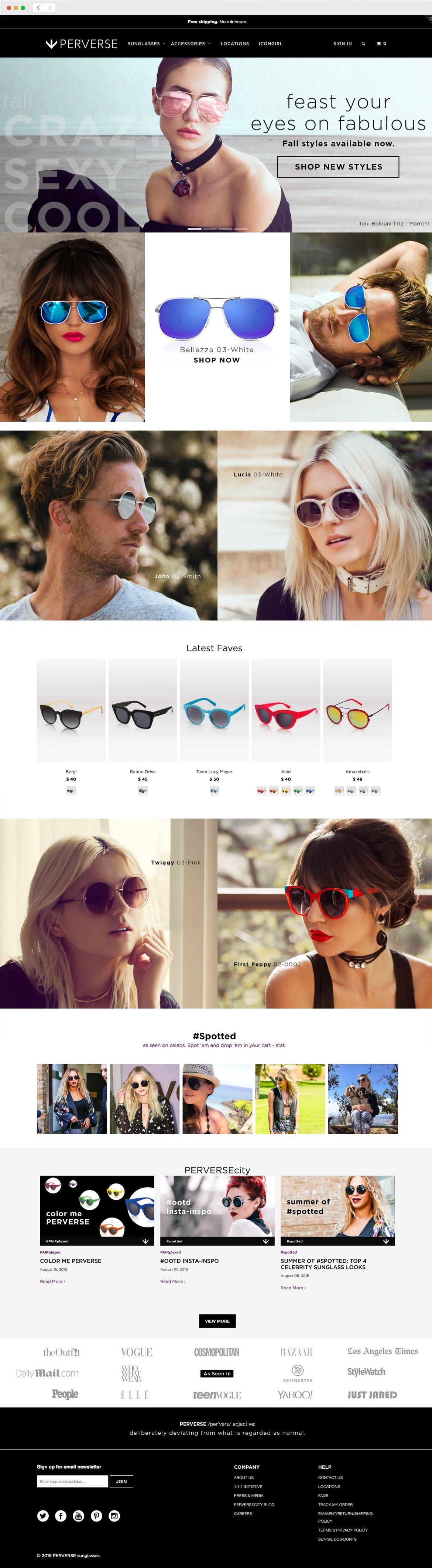 Perverse Sunglasses Web