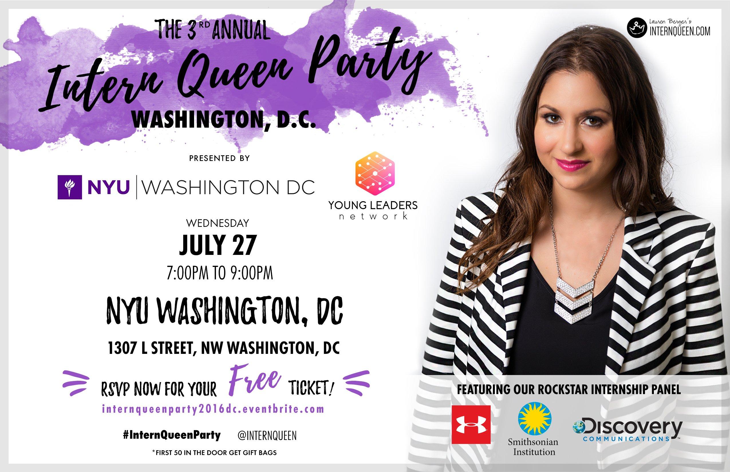 Intern Queen Party DC