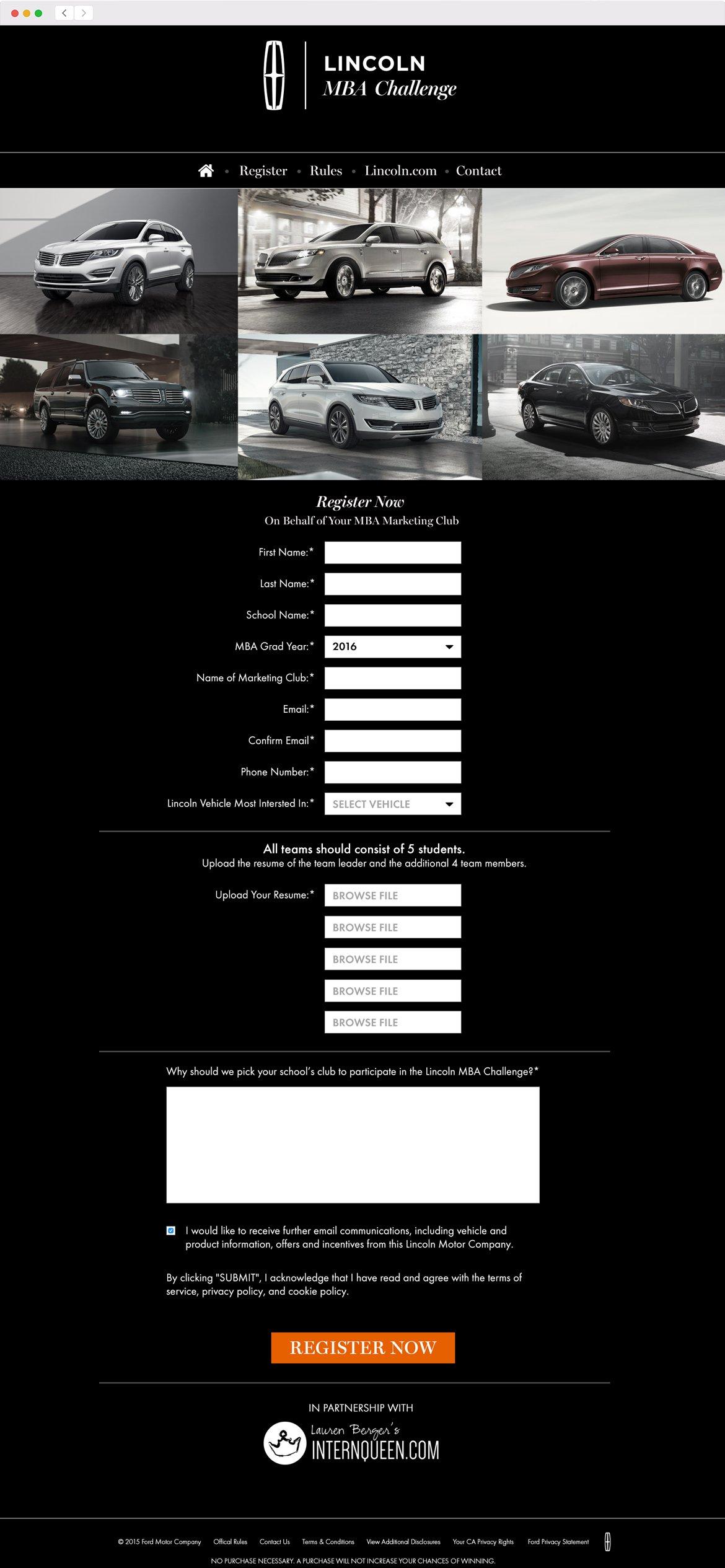Lincoln MBA Challenge Web