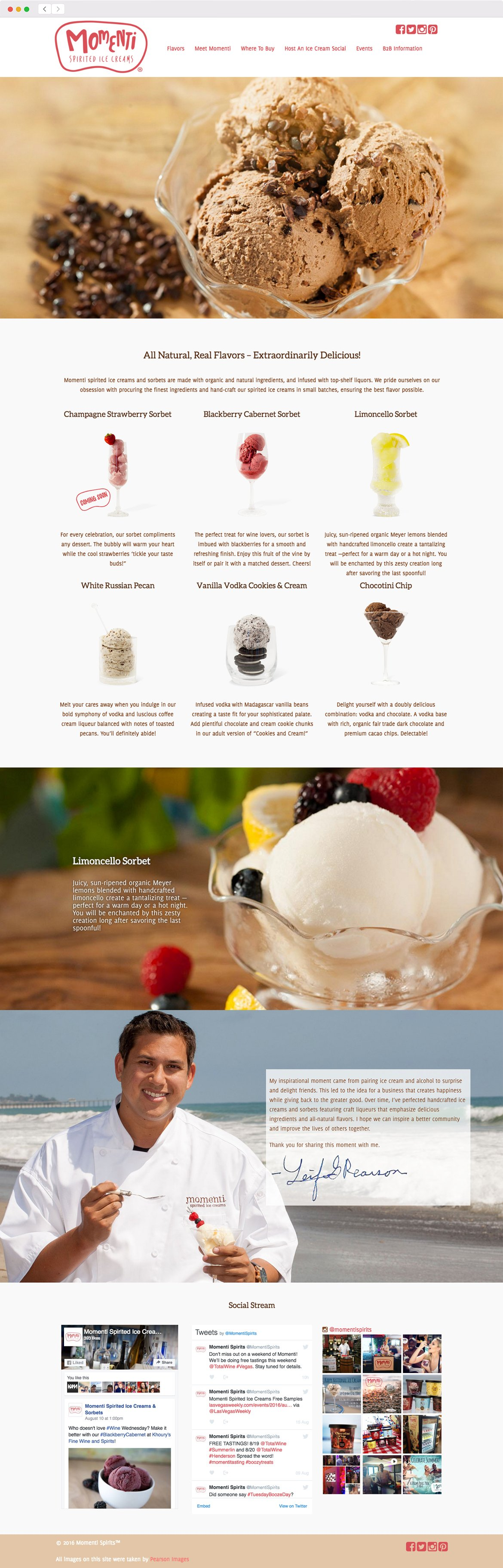 Momenti Spirited Ice Cream Web