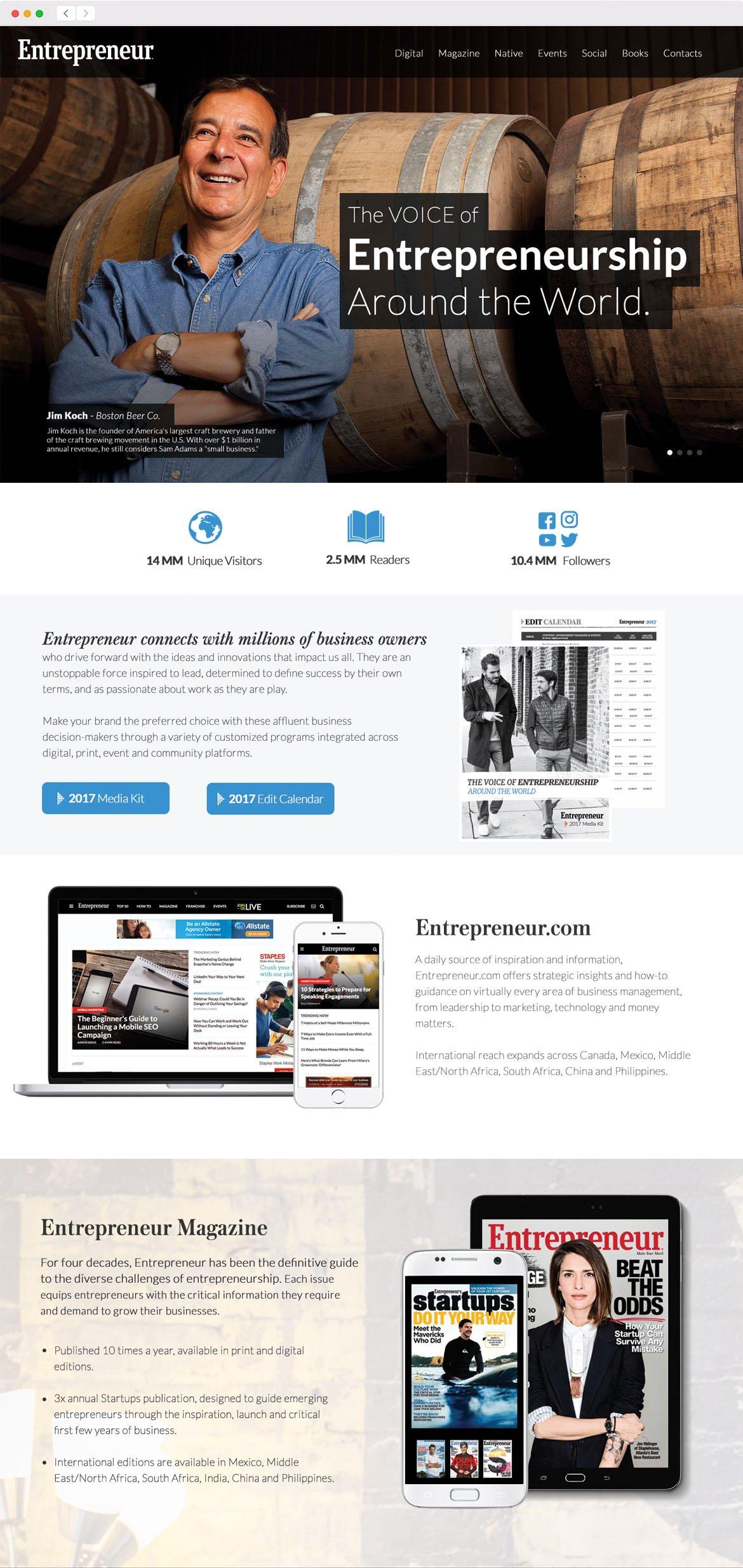 Entrepreneur Media Kit Website